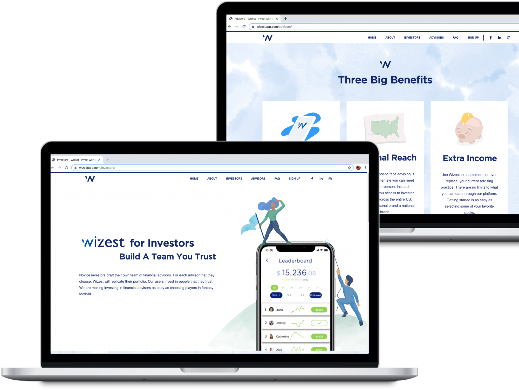 Web design for wizest.com